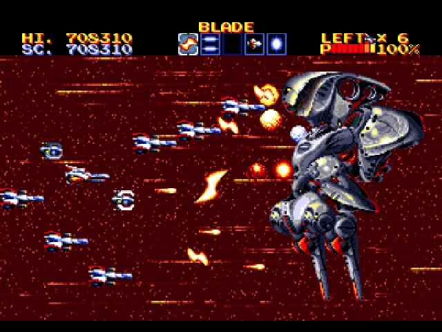 Thunder Force 4<br><br>An das allererste Thunder Force erinnern sich nur noch die Methusalixe unter den Spielern: Zum einen, weil das Spiel 1984 veröffentlicht wurde, zum anderen, weil nur in Japan - und dort auch nur auf Rechnern, die man hierzulande nur aus Sagen und Fabeln kennt. Das Spiel war auch ziemlicher Mist, genau wie sein 1988er Mega Drive-Nachfolger. Gut wurde Tecnosofts Reihe erst mit dem dritten Teil (1990, wurde gewitzt auch in die Spielhalle geschmuggelt), unglaublich gut dann endlich mit dem vierten (1992)! Zwischen damals und heute gab es noch den missratenen 1991 SNES-Ausflug »Thunder Spirits« sowie den gar nicht mal üblen fünften Teil auf PSOne (1997). Und mittlerweile keimt die Hoffnung auf einen brachialen neuen Teil, denn Tec(h)nosoft hat sich neuerdings mit der kryptischen Botschaft »We will restart soon! Please wait for a while.« aus der Versenkung zurückgemeldet! 1714977
