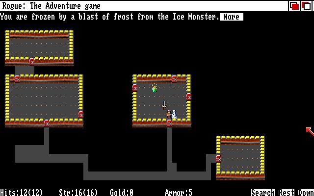 Auf dem grafisch potenten Amiga verwandelte sich die Kulisse natürlich in eine farbenfrohe...jedenfalls fast.