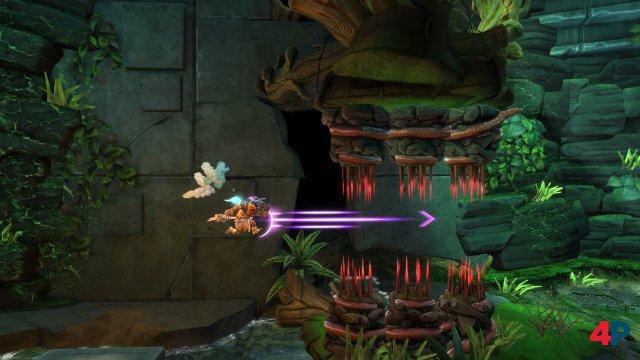 Mit dem Dash pflügt man durch Gegner und Hindernisse.