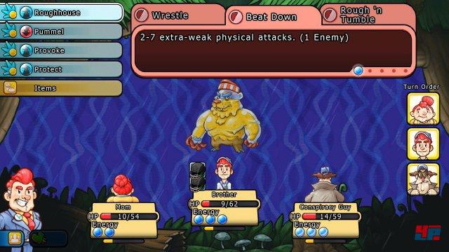 Vieles erinnert an den Super-Nintendo-Klassiker Earthbound, kann aber in keinem Punkt dessen Klasse erreichen.
