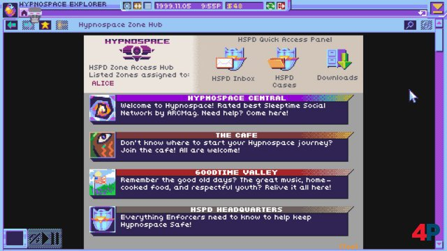 Screenshot - Hypnospace Outlaw (Switch)
