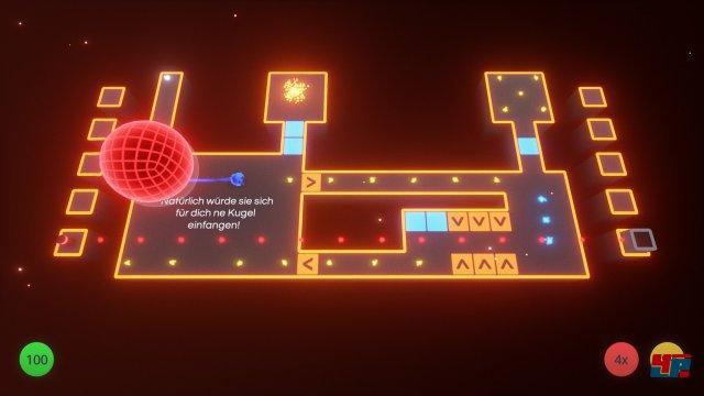 Wie in Ballance oder Marble Blast Ultra steuert man die Kugel direkt – statt den Untergrund wie in Super Monkey Ball zu kippen. Mit dem Analogstick bestimmt man die Richtung und boostet per Knopfdruck – das war