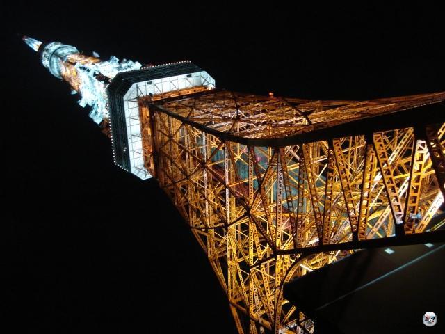 Und hier der Tokyo Tower nochmal in Nahaufnahme. Aus der