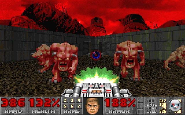Wenden wir uns langsam mal der Ego-Perspektive zu. Und welches Spiel, wenn nicht id Softwares Meisterwerk Doom (1993), wäre als der Opa aller 3D-Erschrecker zu nennen? Okay, das Spiel an sich ist ein stinknormaler Shooter, aber die brillante Nutzung der Lichteffekte, die fiese Soundkulisse und das Furcht einflößende Design der Höllenmonster sorgten bei viel zu vielen Spielern für Schreckensschreie und kurzzeitige Herzrhythmusstörungen. Die dann mit Erben wie Alien Trilogy, Clive Barker's Undying oder FEAR fortgesetzt wurden. 1922553