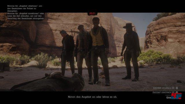 Es gibt einige coole kooperative Missionen inklusive Abstimmungen im Team.