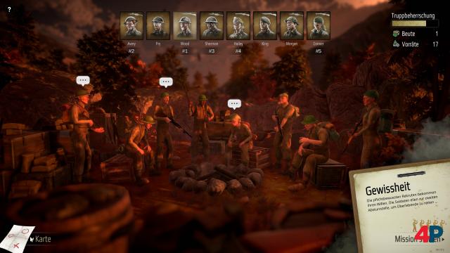 Acht Männer und Frauen, verloren hinter feindlichen Linien.