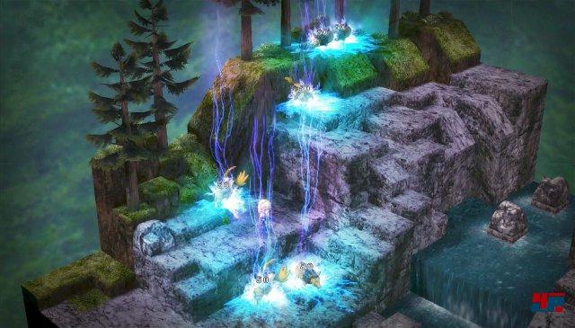Die rundenbasierten Fantasy-Schlachten erinnern stark an Taktik-Rollenspiele der 90er Jahre wie Tactics Ogre, Vandal Hearts oder Final Fantasy Tactics.