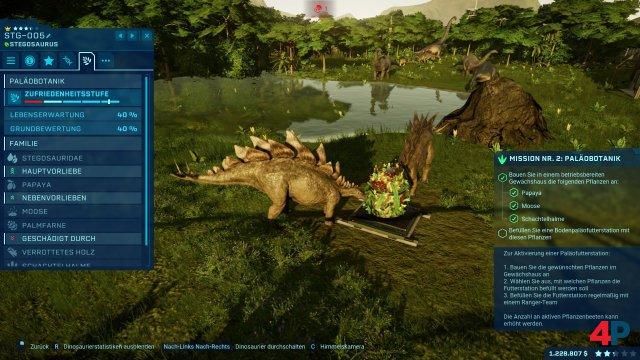 Der Stegosaurus bedient sich am neuen Pflanzen-Buffet.