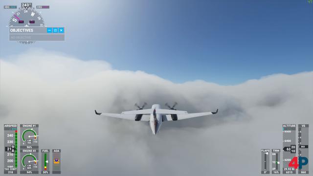Die 3D-Wolken sind absolut beeindruckend und blickdicht.