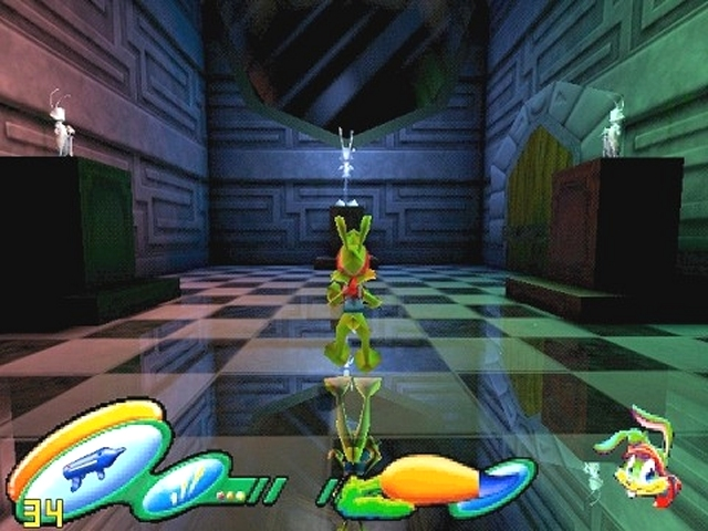 Jazz Jackrabbit 3<br><br>In einer Zeit, in denen weiches Parallax-Scrolling auf DOS-PCs so häufig zu finden war wie Frauen davor, war Jazz Jackrabbit der Messias aller Jump-n-Run-Jünger: Rasanter, rabiat bewaffneter Grünohrhase als Held, fiese Brillenschildkröte als Feind, bezauberndes Hasenzähnchen als entführte Freundin - ein Riesenspaß, der auch im vier Jahre darauf folgenden Nachfolger nach wie vor ungebrochen war. Ein Jahr später sollte für Jazz das 3D-Zeitalter anbrechen (mal von den Mario Kart-ähnlichen Bonuslevels des Erstlings abgesehen): Auf Basis der Unreal-Engine sollte auf PC und PS2 der ultimative 3rd-Hasi-Shooter entstehen! Entwickler World Tree Games plante eine große, zusammenhängende Welt, die man nach und nach freischaltete, eine actionreiche Fortführung des ewigen Kampfes Hase gegen Schildkröte. Nur leider wurde nichts daraus, bereits ein Jahr später erfolgte das schnelle Aus - zurück bleibt nur eine Prä-Alpha-Fassung, die nach wie vor durchs Internet geistert sowie die Hoffnung, dass Jazz-Vater Cliff »Cliffy B« Bleszinski einen eigenen Nachfolger aus dem Hut zaubert. Gerüchten zufolge ist er sehr an einer eigenen Weiterführung »seines« Games interessiert. Vielleicht im Gears of War-Universum? 1751768
