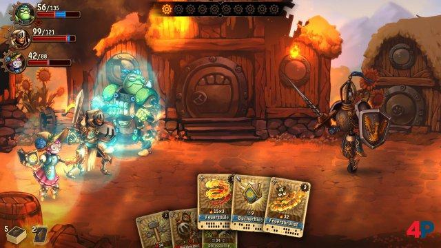 a es Abhängigkeiten der Karten gibt, sollte man sein Deck mit Bedacht zusammenstellen. Das grundsätzliche Regelwerk in SteamWorld Quest ist aber schnell erfasst.