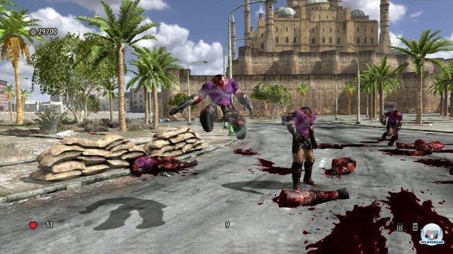 Technisch hat Serious Sam 3 nicht viel zu bieten: Die Szenarien sind detailarm und matschig texturiert. Immerhin ist die Darstellung flüssig.