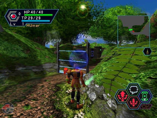 Die folgenden neun Bilder sind aus der japanischen Trial-Version von PSO für PC.