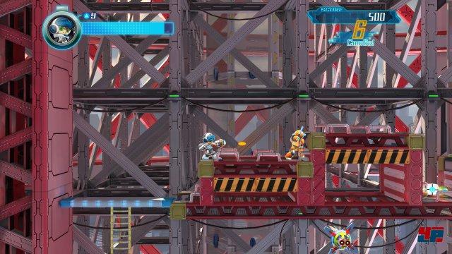 Auch wenn der Schwierigkeitsgrad etwas entschärft wurde, ist Mighty in jeder Hinsicht MegaMans Nachfahre im Geiste.