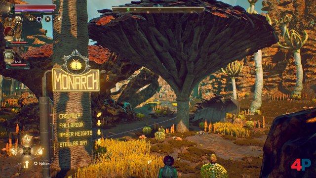 Auf dem Planeten Monarch öffnet sich die Spielwelt.