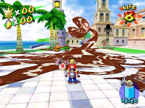 Screenshots Zu Super Mario Sunshine Alles Zum Geschicklichkeit