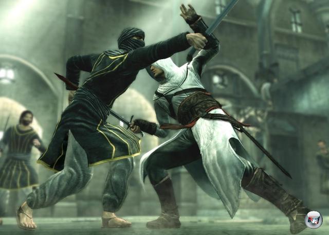 Und doch gibt es derzeit eigentlich nur einen echten Meister-Attentäter: Der Kumpel mit der weißen Haube, der sich durch die Zeiten schlitzt. Durch ziemlich viele Zeiten, denn dafür, dass das erste Assassin's Creed erst  2007 erschien, waren die Gedächtnisschlitzer schon ziemlich oft unterwegs - mit »Assassin's Creed: Brotherhood« erschien gerade der sechste Teil der Serie (Handheld-Ableger eingerechnet). 2176513