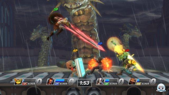 Die Arenen sind an PlayStation-Spiele angelehnt.