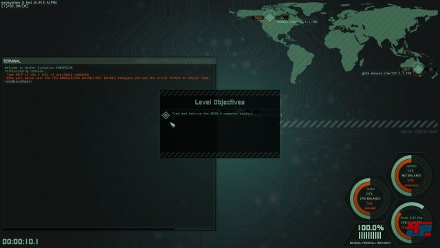 Screenshot - Hacker Evolution: Immersion (Linux)