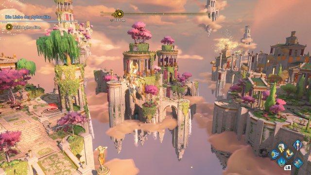 """Sieht hammer aus: Die Himmelswelt von """"Ein neuer Gott"""" gehört zu den schönsten Videospiel-Arealen der letzten Jahre."""