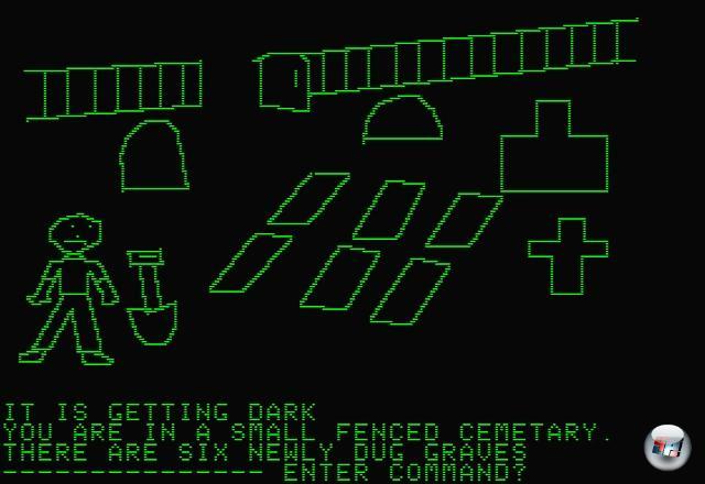 Aber verlassen wir die Weiten der analogen Schauderwelten und wenden wir uns dem digitalen Zähneklappern zu: Schon die Entwickler früher Textadventures verbrachten einen großen Teil ihrer Zeit damit, den Spieler mit fiesen ASCII-Attacken zu erschrecken. Richtig visualisiert wurde das Ganze aber erst 1980, als Ken und Roberta Williams, die späteren Gründer von Sierra, mit Mystery House das allererste Grafikadventure auf dem Apple II veröffentlichten - eine unheimliche Mordgeschichte mit aus heutiger Sicht Erstklässler-Bilder und einem Furcht einflößenden Parser. Aber dennoch der Grundstein aller modernen Gruselspiele! 1922528