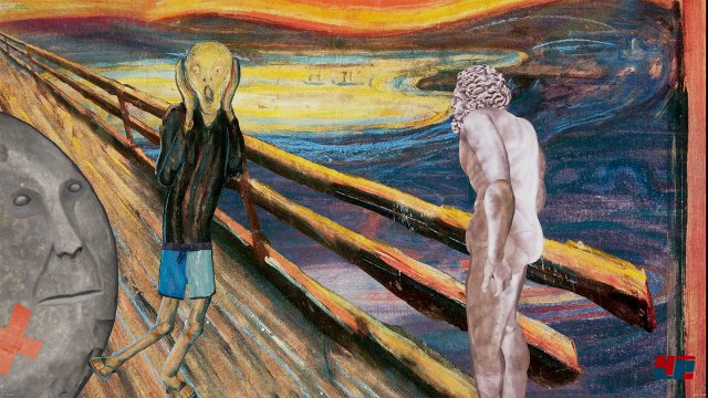 """Auch """"Der Schrei"""" von Edvard Munch ist nicht vor ACE Team sicher. Das Artdesign verbindet diverse Kunstformen bzw. -Stile und vereint sie in Monty-Pythonesken Zwischensequenzen."""