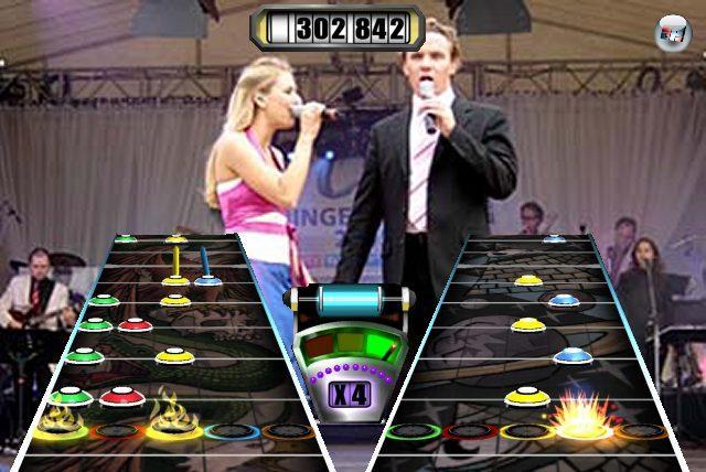 <b>Stefan Mross und Stefanie Hertel Hero</b><br><br>Prinzipiell wäre das natürlich die Killer Application für den Trumpet-Controller. Allerdings haben Marktforschungen ergeben, dass der klassischer Hero-Spieler von Texten, die Weltfrieden, Blümchen oder Harmonie im Universum enthalten, zu aggressiv wird. 1791628
