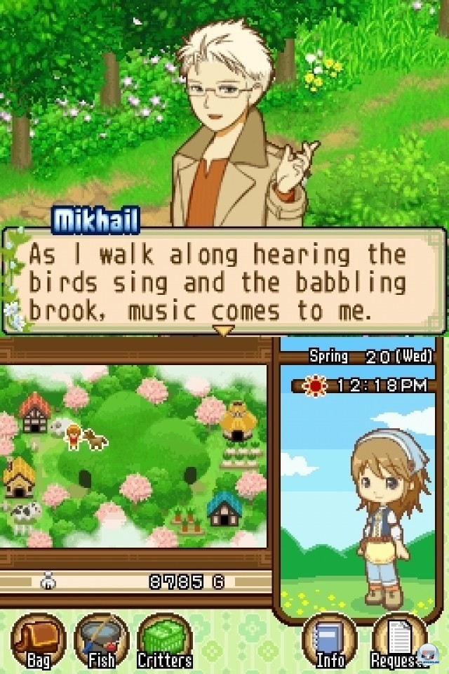 Screenshot - Harvest Moon: The Tale of Two Towns (NDS) 2232022