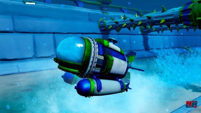 Mit dem Dive Bomber geht es auch unter die Wasseroberfläche.