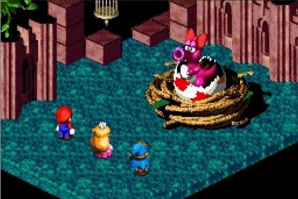 Super Mario RPG (1996)<br><br>Wenn sich zwei Giganten zusammentun, besteht eine gewisse Wahrscheinlichkeit, dass dabei etwas gigantisch Gutes entsteht. Was würde also dabei herauskommen, wenn Square und Nintendo zusammen ein Rollenspiel entwickeln? Och, sagen wir mal etwas wie Super Mario RPG: Legend of the Seven Stars, mit dem der Klempner schon wieder Genre-Neuland betrat, und mit dem schon wieder Maßstäbe gesetzt wurden! Dank des auf dem Modul enthaltenen »SA-1«-Beschleunigerchips gab es auf dem schwächelnden SNES faszinierende, detaillierte Iso-Rendergrafik zu bestaunen, die Mario zusammen mit Erzfeind Bowser erkundete. Und dann wäre dann ja noch das actionreiche, rundenbasierte Kampfsystem, das genug Tiefe hatte, um dem »RPG« im Namen keine Schande zu machen, aber dennoch locker genug von der Hand ging, um auch Hüpffans Spaß zu machen - diese Art von Action-RPG-Adventure wurde später mit Paper Mario und Mario & Luigi: Superstar Saga würdig weitergeführt. Und von denen hatten wenigstens alle etwas, während Super Mario RPG ausschließlich in Japan und den USA offiziell veröffentlicht wurde. 1724683