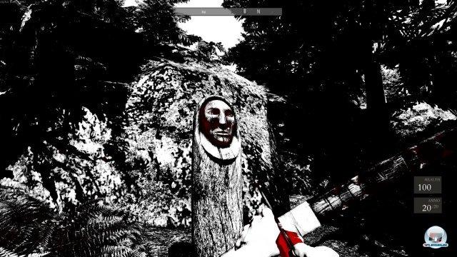 Seltsame Botschaften begrüßen den Spieler nach den ersten Schritten - eine kleine Gestalt verschießt Botschaften per Pfeil auf Totems. Warum hilft einem das Mädchen?