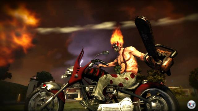 Auch auf Zweirädern wird sich in den chaotischen Kampf gestürzt.