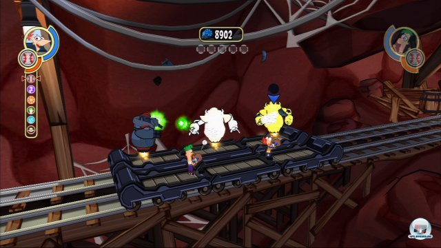 Screenshot - Phineas und Ferb: Quer durch die 2. Dimension (PSP)