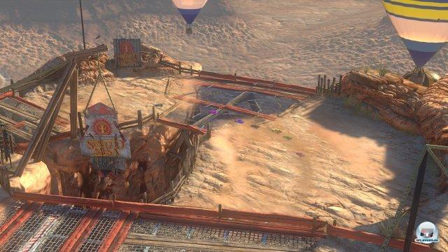 Beim Luftbild hat man den besten Überblick über die kurzen Pisten.