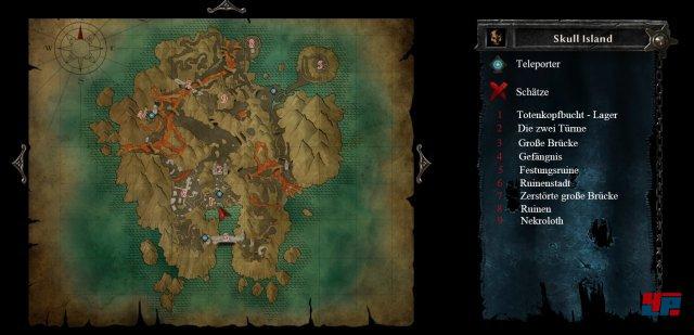 Karte: Totenkopfinsel