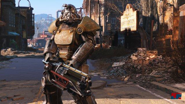 Auch wenn Fallout 4 hinsichtlich der Steuerung nicht für PC optimiert wurde, entsteht dieselbe Sogkraft.