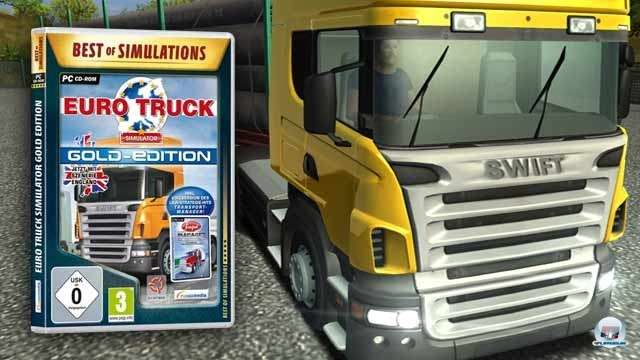 <b>Platz 3: Euro Truck Simulator: 250.000 Einheiten Publisher: Rondomedia</b> <br><br>  Etwa seit August  2009 schauen wir uns  Berufssimulationen regelmäßig an. Genau ein Jahr früher erschien der Euro Truck Simulator. Schade eigentlich, denn das Spiel des auf Truck- und Jagdsimulationen  spezialisierten tschechischen Entwicklers SCS wäre sicher nicht untergegangen, was die achtbare Bewertung des vergleichbaren