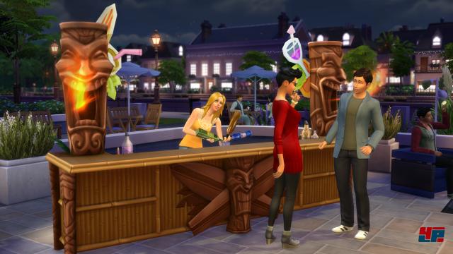 """Die Bar gibt es in der Deluxe Edition. Man kann sie aber auch zusätzlich im """"Deluxe Party Edition Upgrade"""" erwerben, dass wie vier andere Mini- bzw. ausgewachsene Erweiterungen gleich zum Start weg verfügbar ist."""