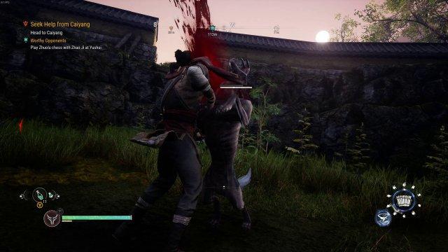 Mit verschiedenen Fähigkeiten und starken Finishern kämpft Taishi gegen fiese Kreaturen.