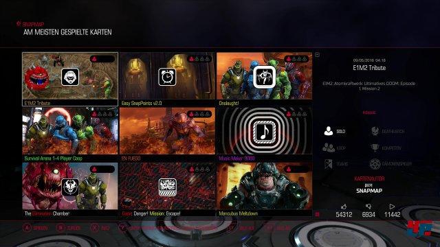 Sehr schön: Die erstellten SnapMap-Level kann man von jedem System anwählen.