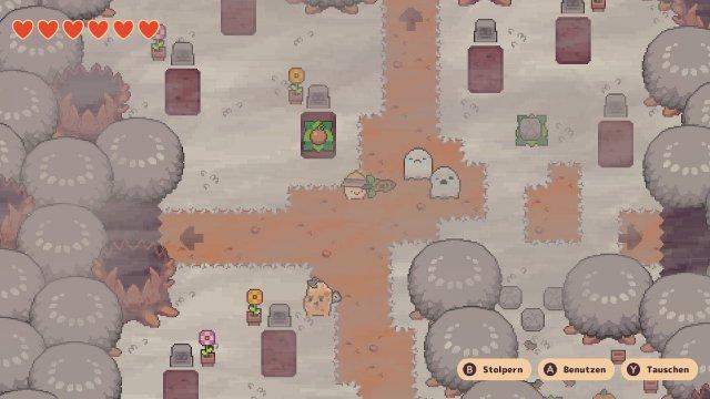 Weil die Zombie-Kartoffel den Rübenjungen auf den Friedhof schickt, muss man sich gegen traurige Gespenster verteidigen.