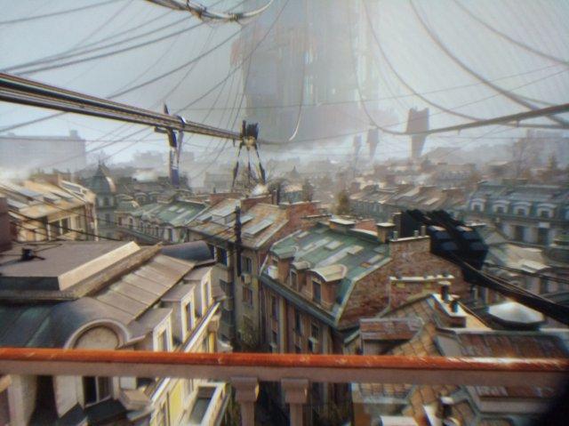 Die Fotos durch die Linse können leider nicht vermitteln, wie unglaublich detailreich Half-Life: Alyx mit der Vive Pro 2 aussieht. Bis in die kleinsten Gassen lässt sich das Geschehen ausspähen.
