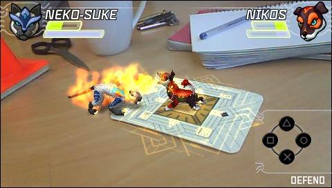Die Kämpfe steigen direkt auf dem Schreibtisch - oder überall dort, wo man die gemusterte Papp-Karte platziert.