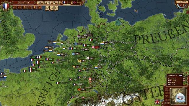 Auf Seiten der Franzosen ist das Spiel recht einfach: Man befehligt die stärkste Landarmee Europas.