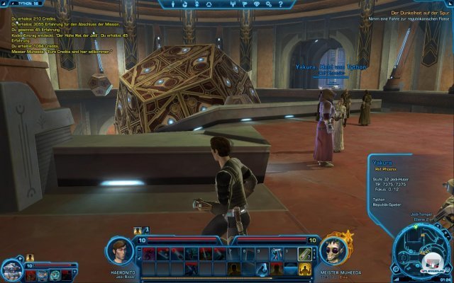 Unterwegs im Jedi-Tempel.