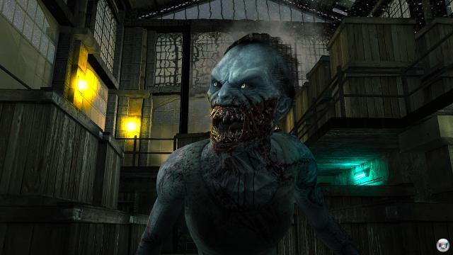 Das Artdesign kann sich sehen lassen - hier ein Zombie aus der Nähe.