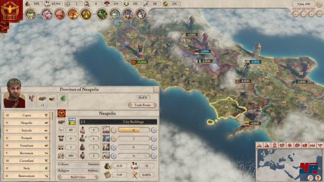 Ein Blick auf die Provinz Neapolis