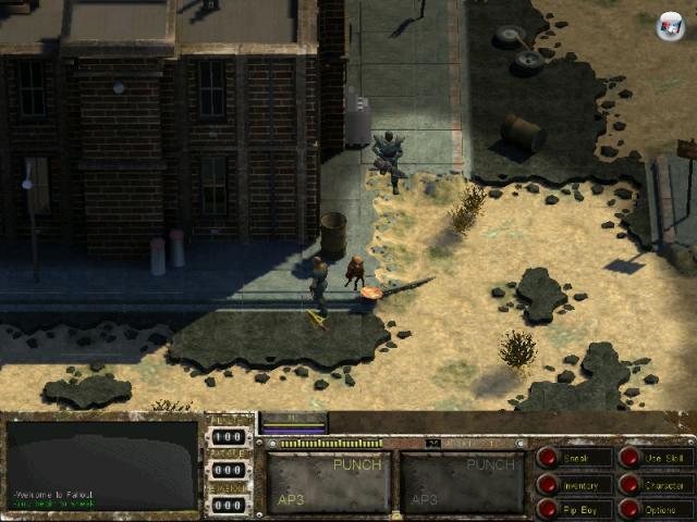 Van Buren<br><br>»Fallout? Ich seh kein Fallout!« Stimmt schon, Van Buren ist ja nur der Projektname dessen, aus dem das ursprüngliche Fallout-Studio mal Fallout 3 machen wollte. Es sollte sogar eine Mehrspieler-Option geben – aber dann kam die Black Isle-Pleite. Und um mal Salz in die Wunde zu streuen: Mit der für Van Buren verwendeten Technik arbeiteten die Entwickler auch an Baldurs Gate 3. Schlechte Zeiten für Rollenspieler waren das. Lang war es her, dass mal ein Baldurs Gate das Genre aus dem Tiefschlaf gerissen hatte. Aber wir schweifen von dannen… 2168923