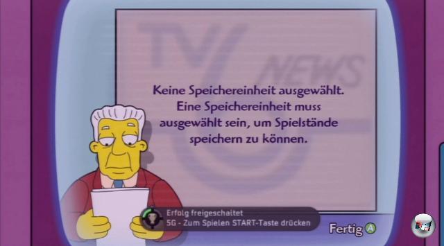 <b>Die Simpsons - Das Spiel</b><br><br>»Zum Spielen START-Taste drücken« leuchtet dem Gelbfreund direkt auf dem Startbildschirm entgegen. Dann machen wir das doch - zack, fünf Punkte mehr auf dem Konto. 1783423