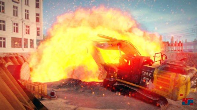 Großeinsätze werden von kleinen Renderfilmchen eingeleitet: Die zahlreichen Explosionen erinnern ein wenig an Cobra 11.